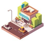 Vector isometric tourist information center Royalty Free Stock Photos