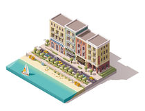 Vector isometric town street Royalty Free Stock Images