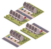 Vector isometric townhouses set Royalty Free Stock Photos