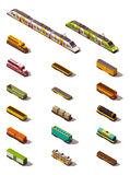 Vector isometric trains stock illustration