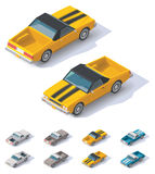 Vector isometric utility coupe car Stock Images
