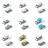 Vector isometric vans set Stock Photo