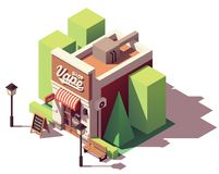 Vector isometric vape shop Royalty Free Stock Photography