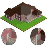 Vector isometric villa Royalty Free Stock Images