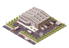 Vector isometric warehouse Stock Photo