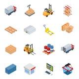 Vector isometric warehouse equipment Royalty Free Stock Photography