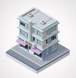 Vector isometrisch hotel Stock Foto's