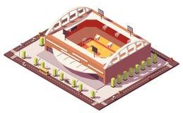 Vector isometrisch laag polybasketbalstadion stock illustratie