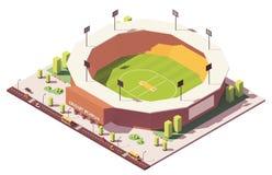 Vector isometrisch laag polyveenmolstadion royalty-vrije illustratie