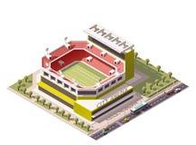 Vector isometrisch stadion royalty-vrije illustratie