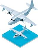 Vector isometrisch watervliegtuig vector illustratie