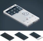 Vector isometrische generische smartphone Stock Afbeeldingen
