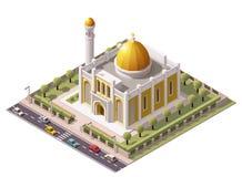 Vector isometrische moskee vector illustratie