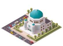 Vector isometrische synagoge royalty-vrije illustratie