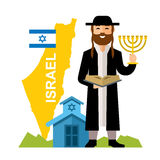 Vector Israel Country Concept. Flat style colorful Cartoon illustration. Stock Image