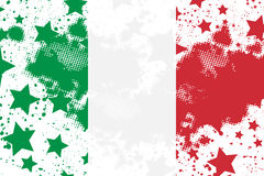 Vector Italian grunge flag. Using for decoration works Royalty Free Stock Images