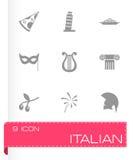 Vector italian icon set Stock Images