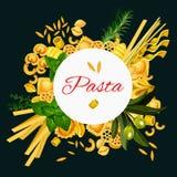 Vector Italian Pasta Cuisine Poster Royalty Free Stock Image