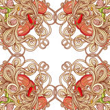 Vector italian pasta pattern Royalty Free Stock Photography