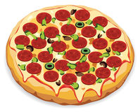 vector italian pizza Royalty Free Stock Image