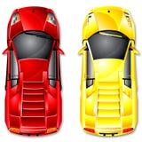 Vector italian sports car Stock Images
