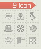 Vector Italy icon set Stock Photos