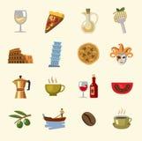 Vector italy icons set Stock Photos