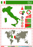 Vector Italy illustration country nation national culture concep Royalty Free Stock Photography