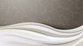 Vector of  Ivory Silk Fabric  Royalty Free Stock Photography