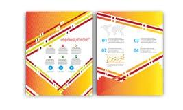 Vector Jaarverslag, de Lay-out van de Boekdekking, Pamfletbrochure, Vliegermalplaatje, A4 Grootte Stock Foto's