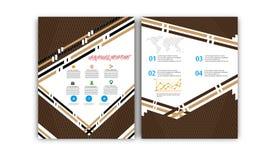 Vector Jaarverslag, de Lay-out van de Boekdekking, Pamfletbrochure, Vliegermalplaatje, A4 Grootte Royalty-vrije Stock Foto's