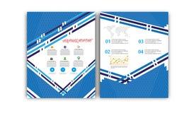Vector Jaarverslag, de Lay-out van de Boekdekking, Pamfletbrochure, Vliegermalplaatje, A4 Grootte Royalty-vrije Stock Foto