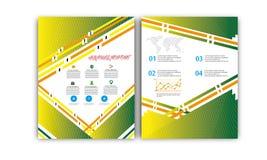 Vector Jaarverslag, de Lay-out van de Boekdekking, Pamfletbrochure, Vliegermalplaatje, A4 Grootte Royalty-vrije Stock Afbeelding