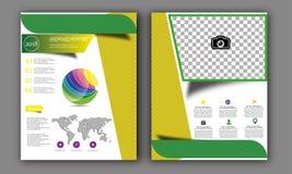Vector Jaarverslag, de Lay-out van de Boekdekking, Pamfletbrochure, Vliegermalplaatje, A4 Grootte Royalty-vrije Stock Fotografie