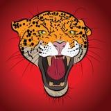 Vector jaguar portrait. stock illustration