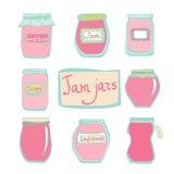 Vector jam jars Royalty Free Stock Image