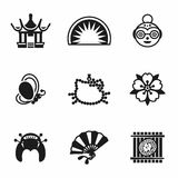 Vector Japan icon set Royalty Free Stock Photos
