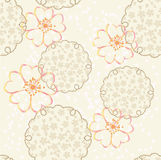 Vector japanese background with cherry blossom Stock Images