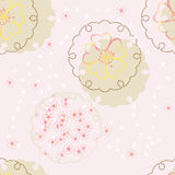 Vector japanese background with cherry blossom Royalty Free Stock Photography