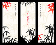 Vector Japanese banners Royalty Free Stock Images