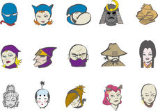 Vector japanese charactor Royalty Free Stock Images