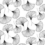 Vector japanese gingko beautiful background. Floral textile decoration. Vintage leaf pattern. Interior design.  Bohemia Stock Photo