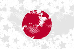 Vector Japanese grunge flag. Using for decoration works Royalty Free Stock Image