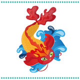 Vector Japanese koi fish Royalty Free Stock Image