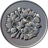 Vector Japanese one hundred Yen coin Royalty Free Stock Image