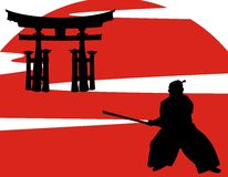 Vector japanese samurai Stock Photography