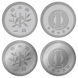 Vector japanese Yen coin Stock Image