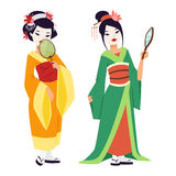 Vector Japans geishameisje Royalty-vrije Stock Foto's