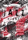 Vector jazz, rock or blues music poster template. Stock Photos