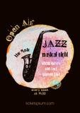 Vector Jazz-, Rock- oder Blaumusikplakatschablone lizenzfreie abbildung